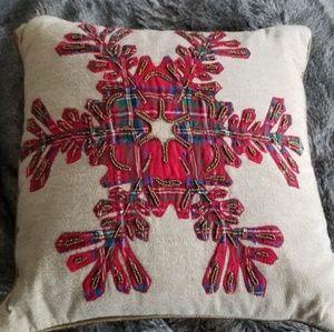 Pottery Barn snowflake pillow